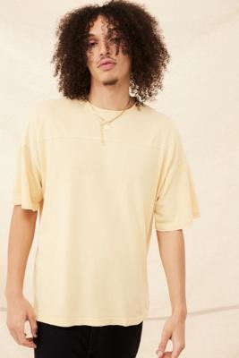 Champion Sand Drop Shoulder T-Shirt - Beige S at Urban Outfitters