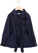 Il Gufo Girls' Double-Breasted Windbreaker Jacket
