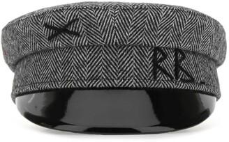 Ruslan Baginskiy Logo Embroidered Herringbone Baker Boy Hat