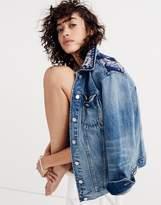 Madewell x B SidesTM Oversized Jean Jacket: Bandana Edition