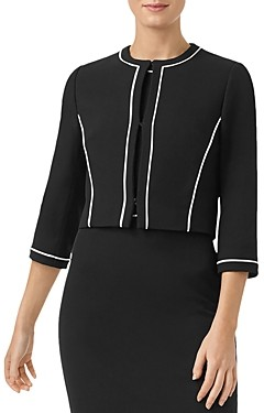 Hobbs London Petites Cordelia Piped Cropped Jacket