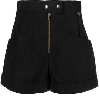 Twin-Set High-Waist Shorts