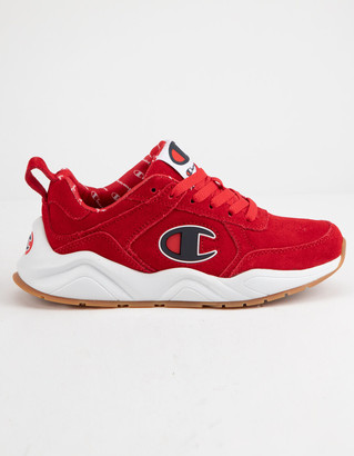 Champion Life 93 Eighteen C Logo Scarlet Suede Boys Shoes