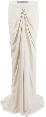 Rick Owens Gathered Long Skirt