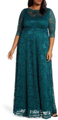 Kiyonna Leona Lace Evening Gown