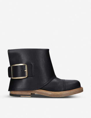 Alexander McQueen Runway leather biker boots