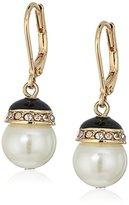 """Anne Klein Sweet Pearls"""" Gold-Tone Pearl Leverback Drop Earrings"""