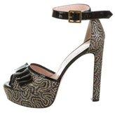 RED Valentino Platform Bow Sandals