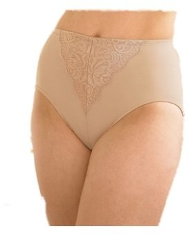 Glamorise Elegance Shaping Briefs Style 4000 Smooth with lace Trim (39/40 (5XL)