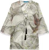 Matthew Williamson Tassled printed silk top