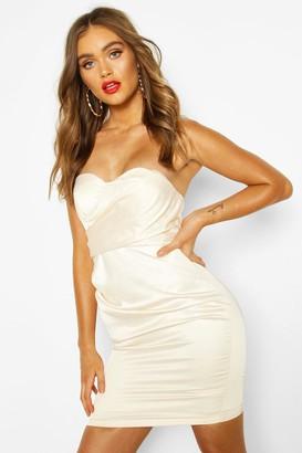 boohoo Occasion Satin Cupped Mini Dress