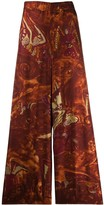 Romeo Gigli Pre Owned 1990's angles print wide-legged trousers