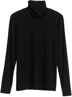 Cuyana Slim Turtleneck Long Sleeve Tee
