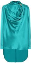 Roksanda Limela draped silk-satin top