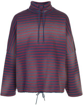 Martine Rose Oversized Striped Sweatshirt
