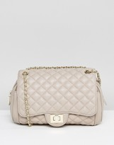 Marc B Knightsbridge Quilted Shoulder Bag In Nude