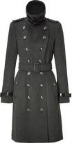 Burberry Dark Charcoal Heather Wool-Cashmere Duncannon Coat