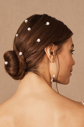 Anthropologie Proux Pearl Pins By in Gold Size ALL