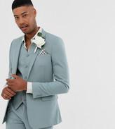 Asos Design DESIGN Tall wedding skinny suit jacket in pastel blue