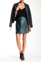 Muu Baa Muubaa Leather Midi Skirt