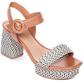 Bernardo Women's Reagan Raffia Platform Sandals