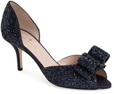 Kate Spade Women's 'Sela' Glitter Bow Peep Toe Pump
