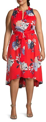 Rachel Roy Plus Floral-Print High-Low Dress