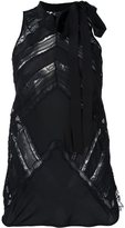 Ermanno Scervino sleeveless lace insert blouse