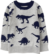 Gymboree Gray Intarsia Knit Dino Sweater - Infant & Toddler