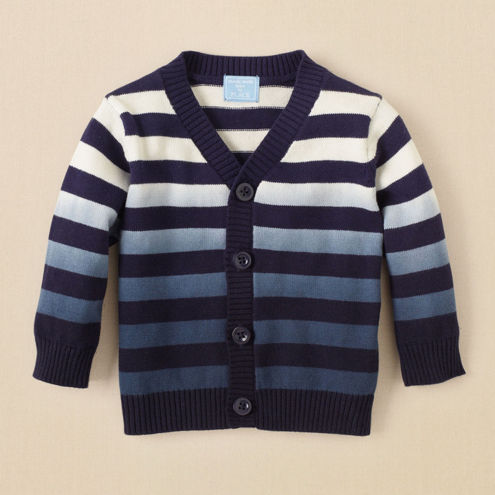 Children's Place Dip dyed striped cardigan