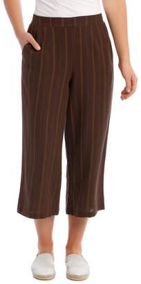 Regatta Flat Front Linen Blend Wide Leg Crop Pant