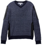 Isaac Mizrahi Faux Leather Accented Sweater (Toddler, Little Boys, & Big Boys)