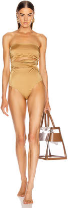Alix Nyc ALIX NYC Nassau Swimsuit in Oro   FWRD