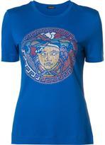 Versace studded Medusa T-shirt - women - Silk/Rayon - 38