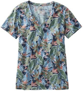 L.L. Bean Women's Clothing Signature Slub Knit Tee, V-Neck Pattern