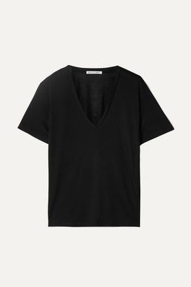 FRANCES DE LOURDES Frankie Stretch-jersey T-shirt - Black