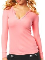 Thermal Henley with Rhinestones