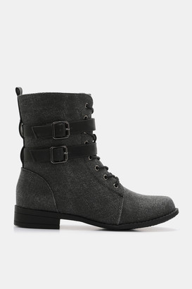 Ardene Buckled Combat Boots - Shoes  
