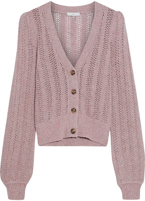 Joie Bilina Marled Pointelle-knit Cardigan
