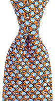 Roundtree & Yorke Trademark School of Fish Silk Tie