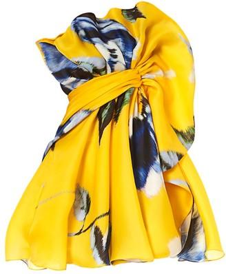 Carolina Herrera Ruffle Silk Mini Dress