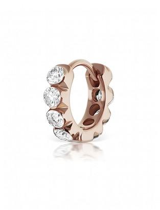 Maria Tash 6.5mm Invisible Set Large Diamond Eternity Single Hoop Earring - Rose Gold