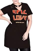 City Chic Epic Love Stretch Cotton Tunic