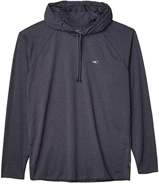 O'Neill Hybrid Long Sleeve Sun Hoodie (Cool Grey) Men's Swimwear