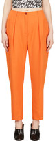 Thierry Mugler Orange Low Waist Oversize Trousers