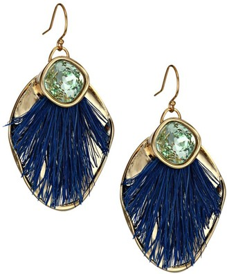 Akola Sisal & Swarovski Crystal Drop Earrings