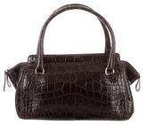 Oscar de la Renta Vintage Alligator Handle Bag