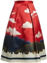 Undercover Full printed silk skirt