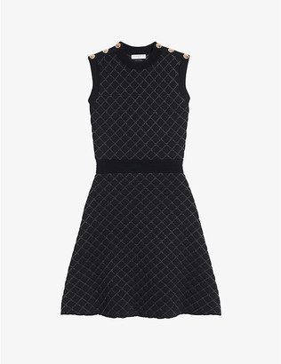 Sandro Many woven mini dress
