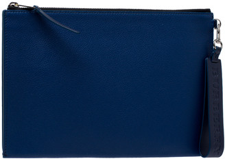 Burberry Blue Leather Document Holder